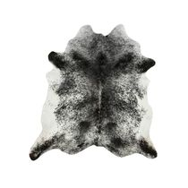 Black and White Salt & Pepper Cowhide Rug - Extra Large