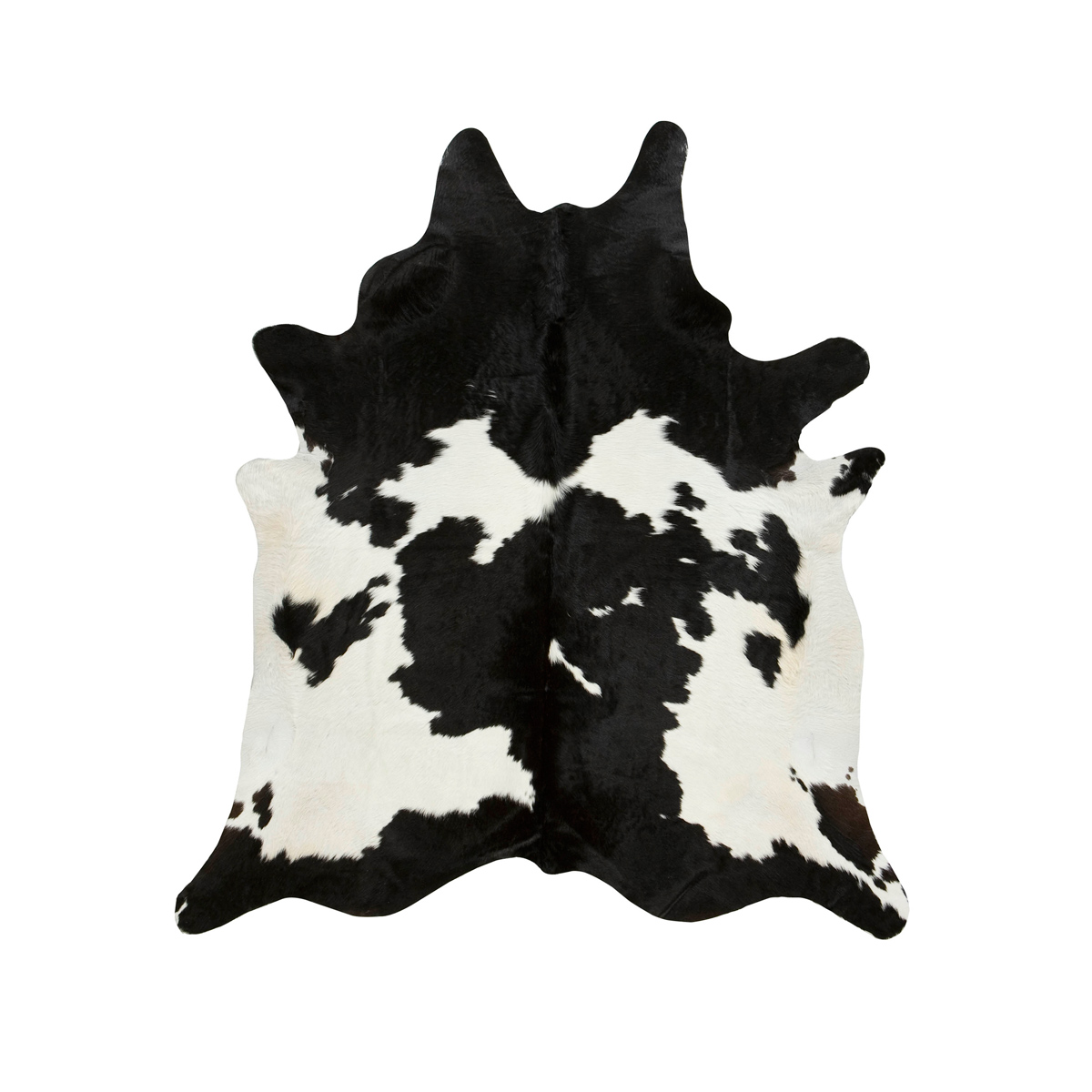 Black and White Special Cowhide Rug - Extra Large