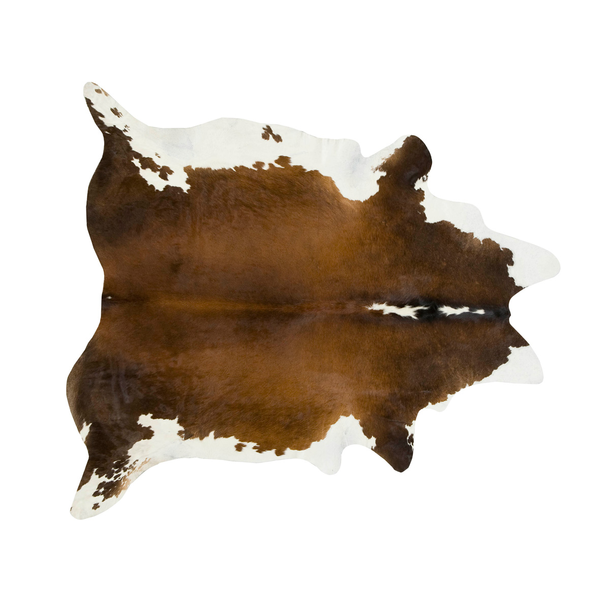Black, Brown and White Regular Cowhide Rug - Medium