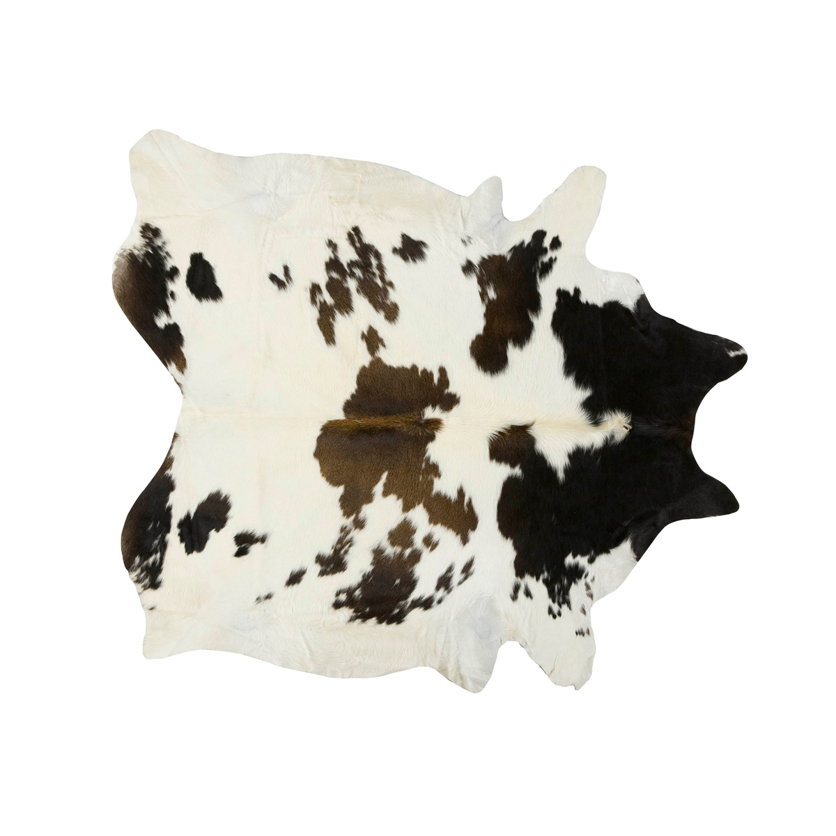 Black, Brown and White Special Cowhide Rug - Extra Large