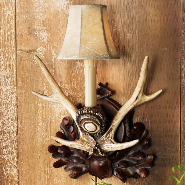 Black Forest Antler Wall Sconce