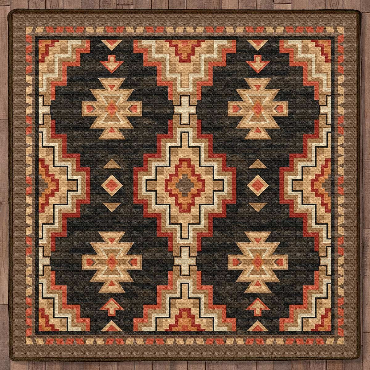 Black Ridge Rug - 8 Ft. Square
