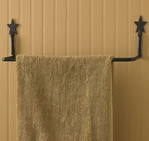 Black Star Towel Bar - 16 Inch