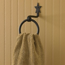 Black Star Towel Hook