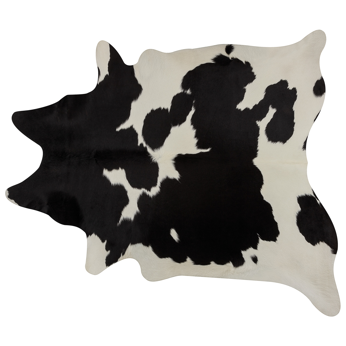 Black & White Brazilian Cowhide Rug