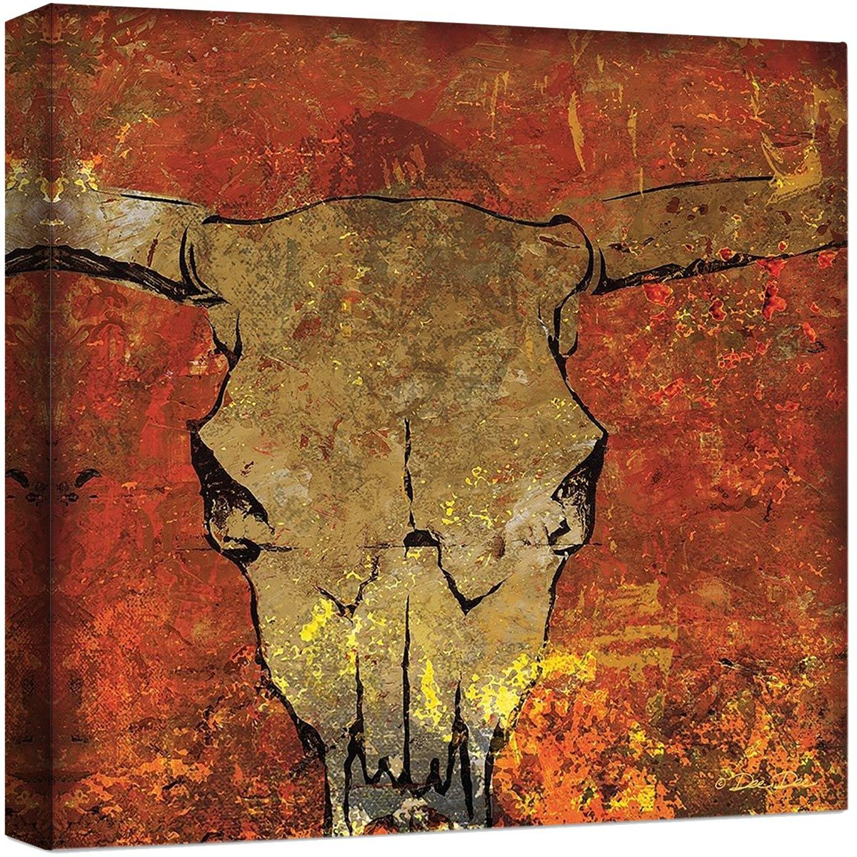 Blazing Skull Canvas Art