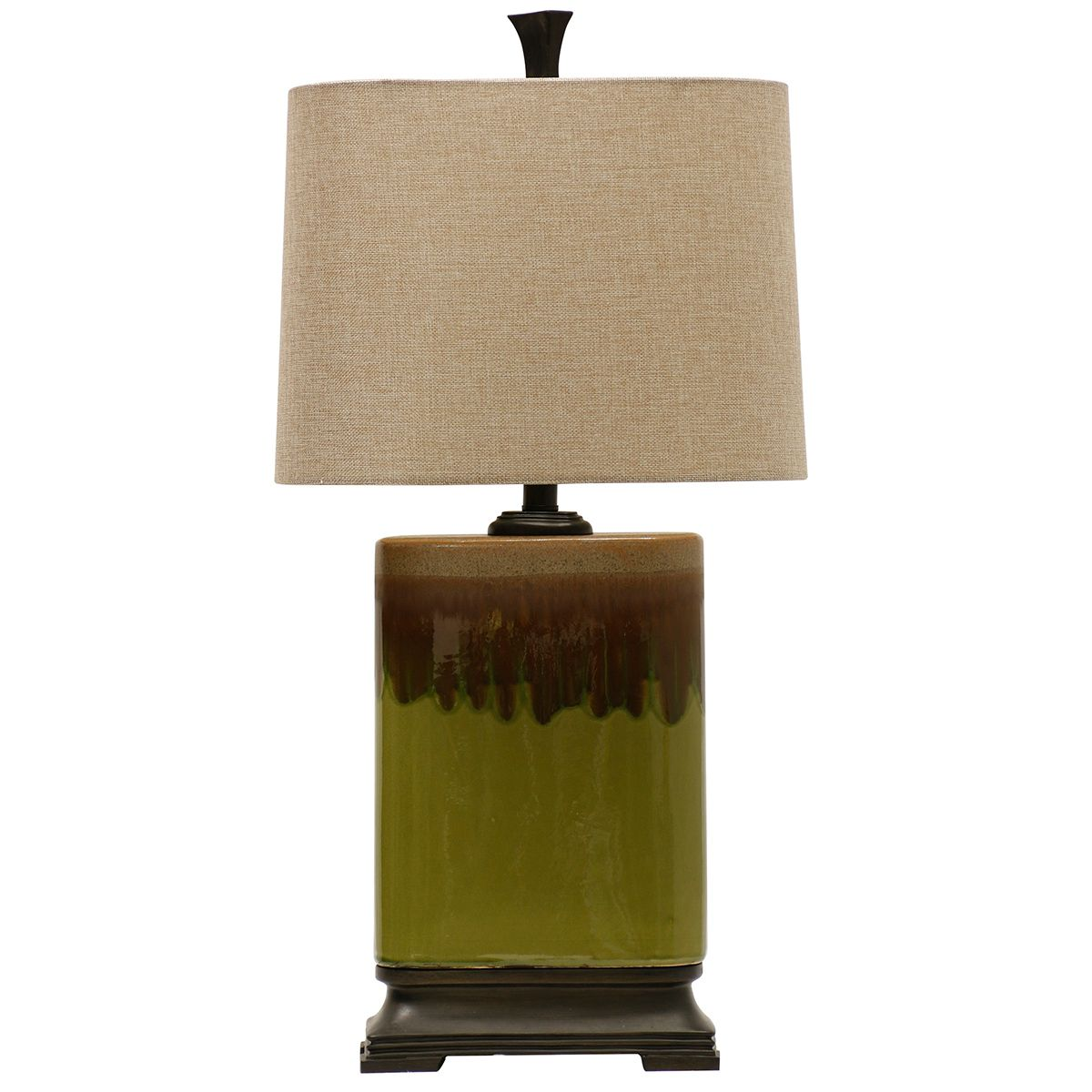 Blocky Dripped Finish Table Lamp