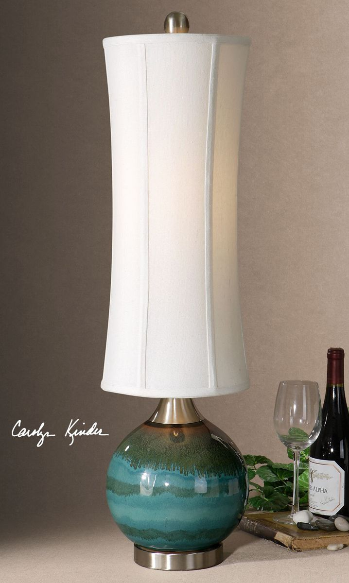 Blue and Olive Orb Table Lamp
