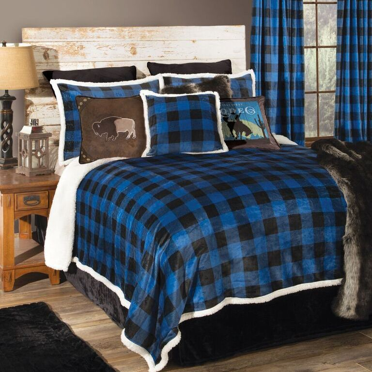 Blue Buffalo Check Bed Set - King