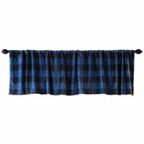 Blue Buffalo Check Valance