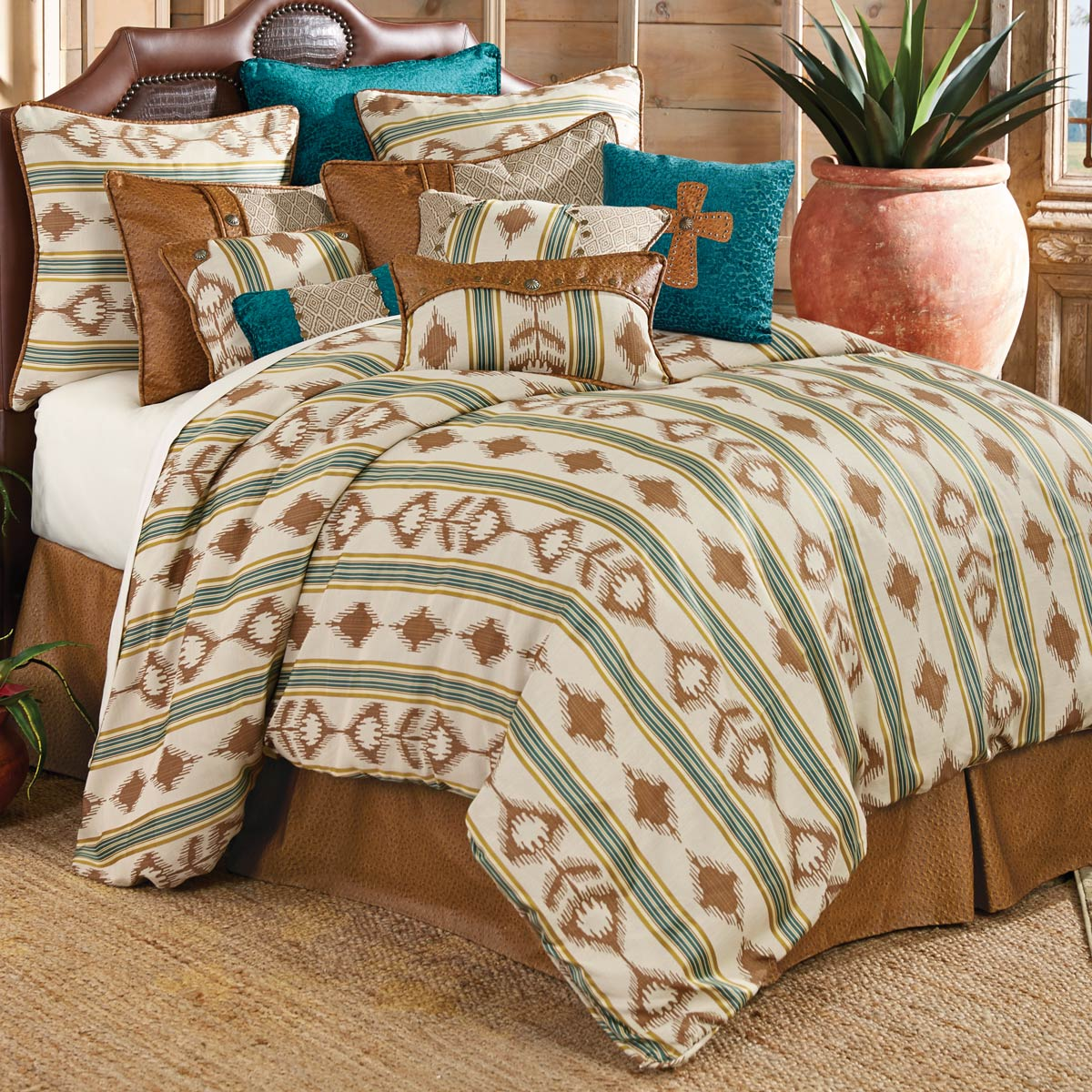 Blue Eagle Bed Set - Super Queen