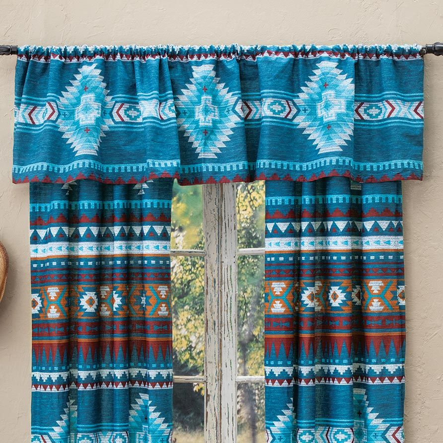 Blue Mesa Lined Valance