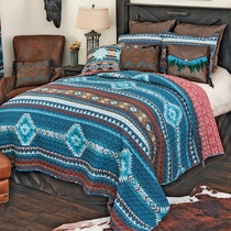 Blue Mesa Quilt Set - Full/Queen