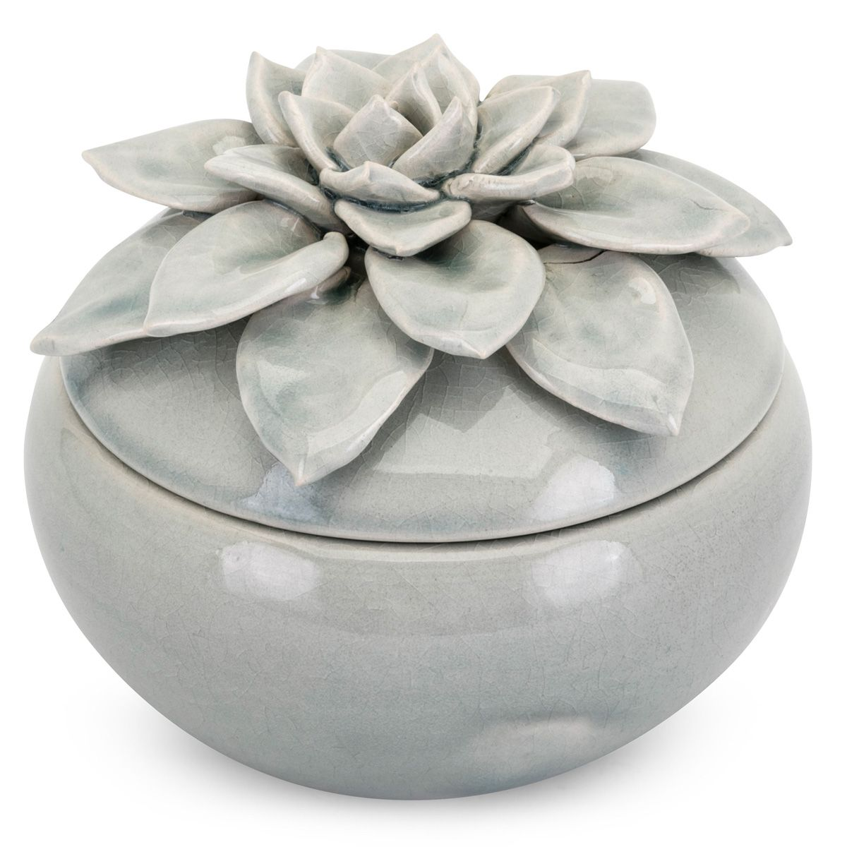 Blue Petals Large Lidded Canister