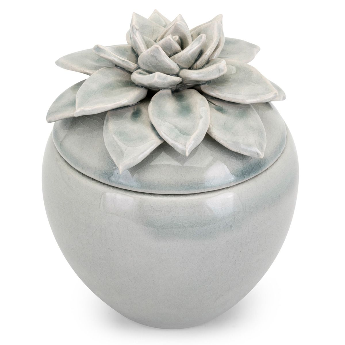 Blue Petals Small Lidded Canister