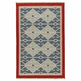Blue Tribal Waves Rug Collection