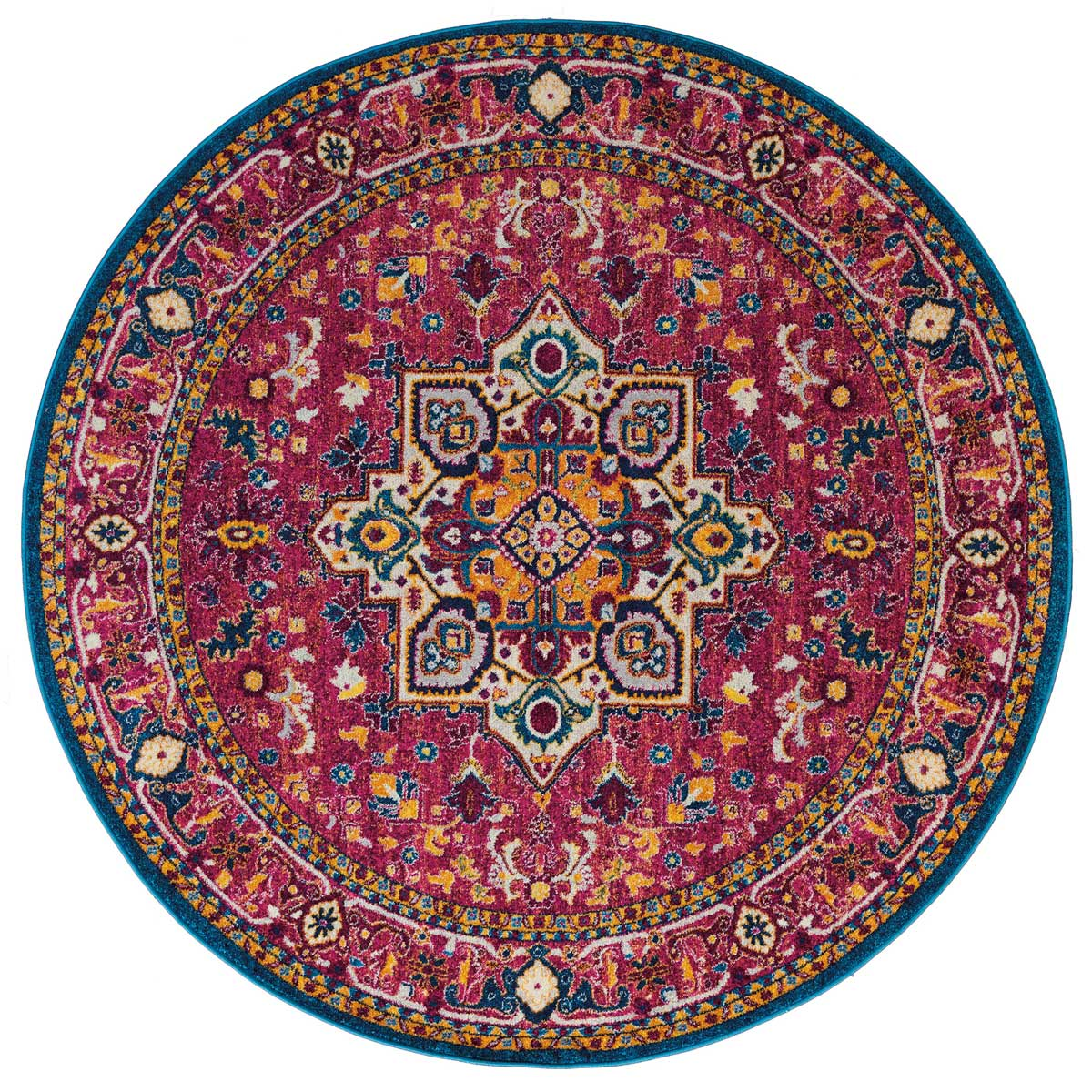 Bohemian Bold Rug 8 Ft Round