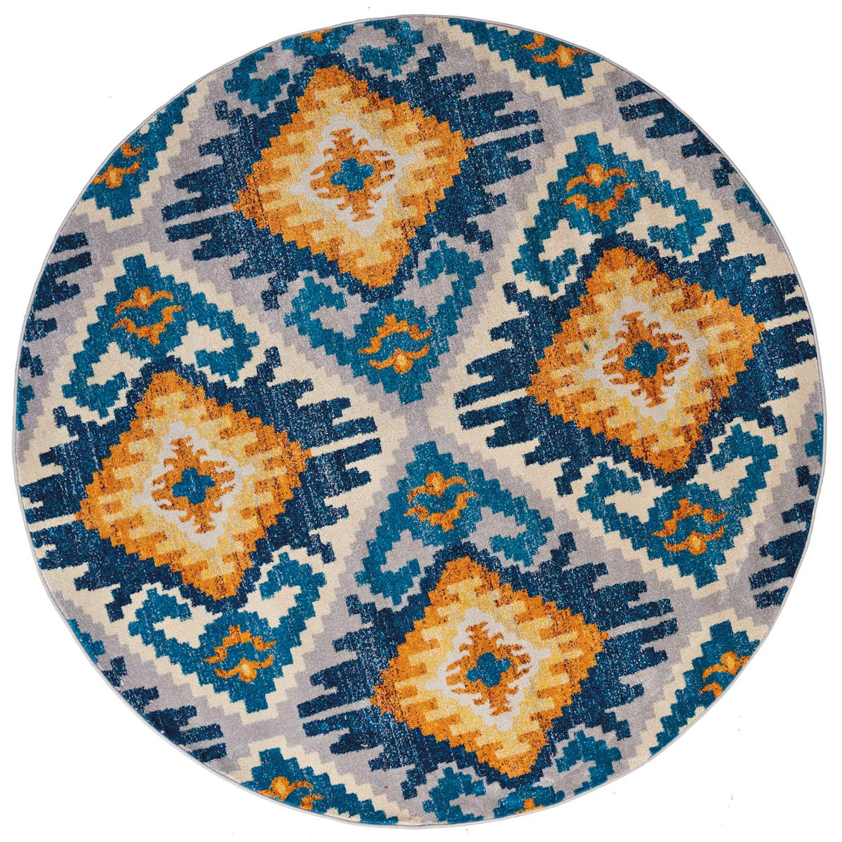 Bohemian Gold Rug - 8 Ft. Round