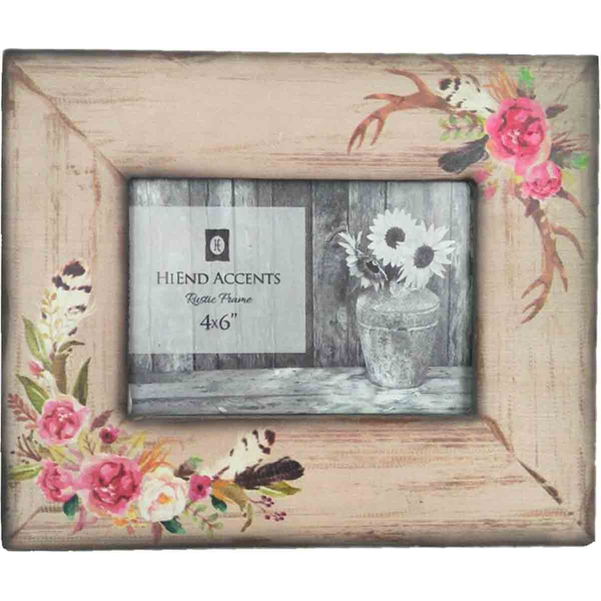 Boho Flowers Picture Frame