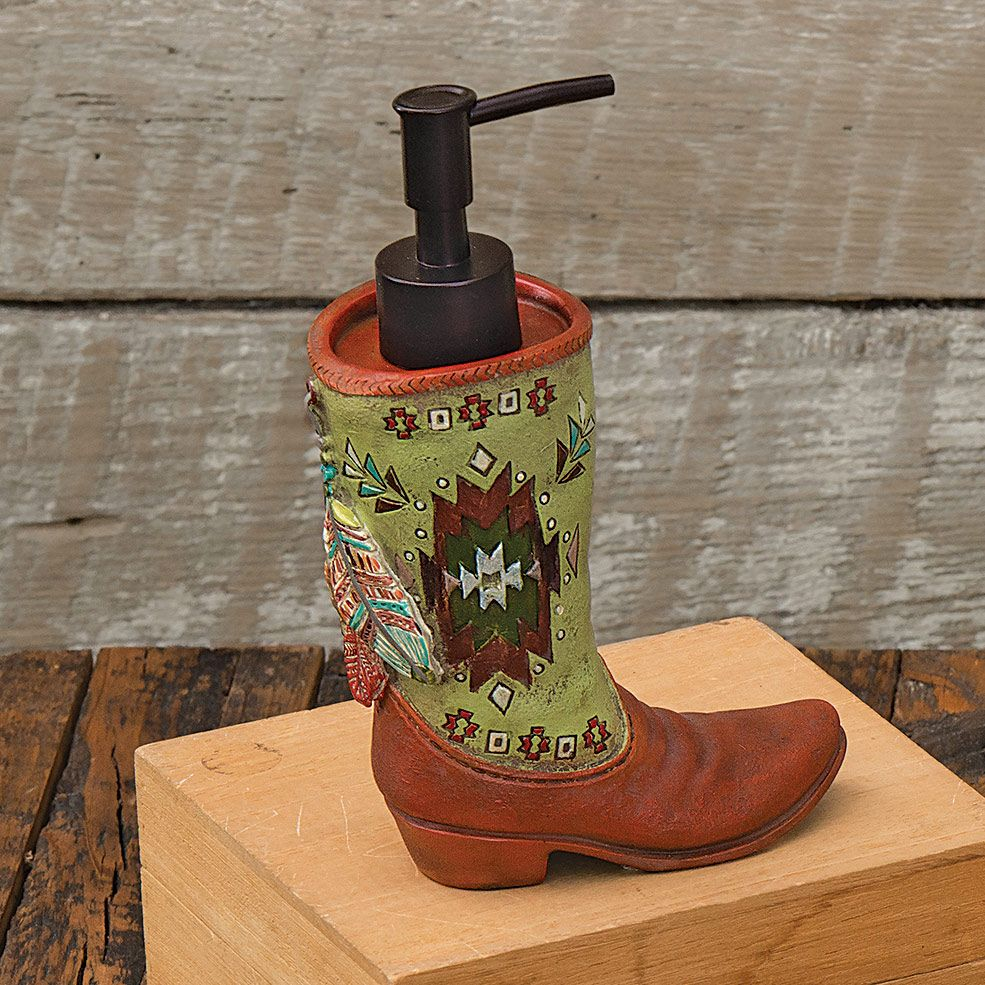 Southwestern Feathers Lotion Dispenser - CLEARANCE