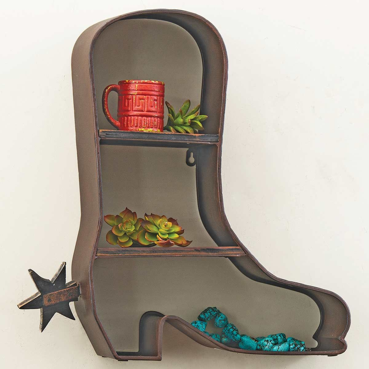 Boots & Spurs Wall Shelf - OVERSTOCK