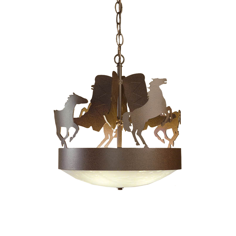Boots and Stallions Frontier Rust Chandelier
