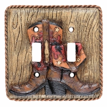 Boots & Rope Double Switch Plate