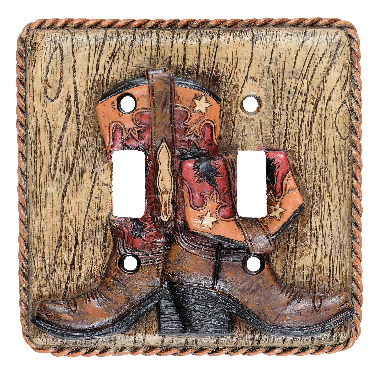 Boots & Rope Double Switch Plate - CLEARANCE