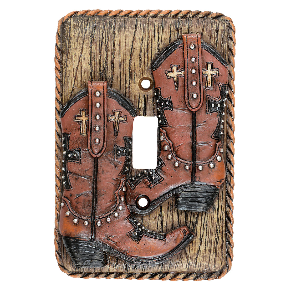 Boots & Rope Single Switch Plate - CLEARANCE