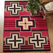 Bounty Red Southwestern Rug - 3 x 4