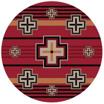 Bounty Red Southwestern Rug - 8 Ft. Round