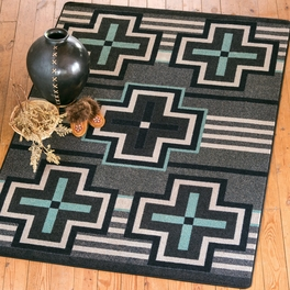 Bounty Turquoise Flint Rug Collection
