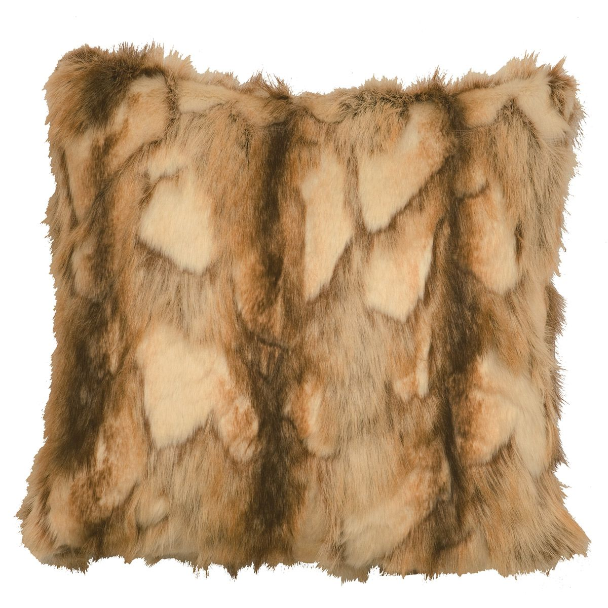 Brandy Fox Faux Fur Square Pillow
