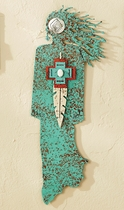 Brave Hearted Turquoise�Spirit Woman Wall Art