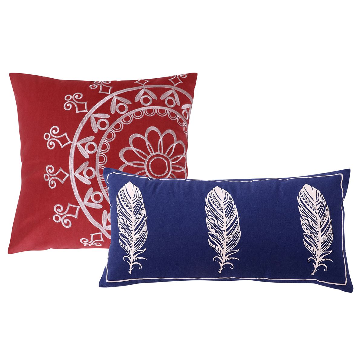 Bright Falling Feathers Pillows - Set of 2