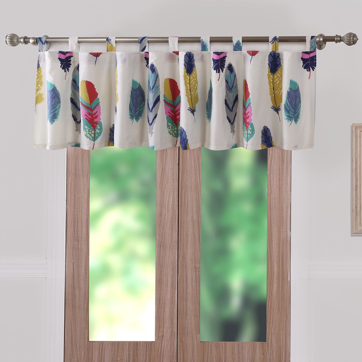 Bright Falling Feathers Valance