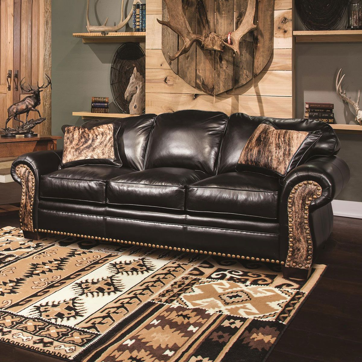 Black Creek Leather Sofa