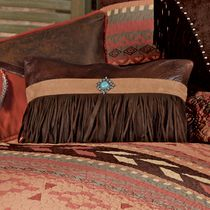 Broken Arrow Fringed Concho Pillow
