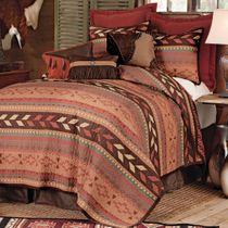 Broken Arrow Quilt Bed Set - King