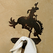 Bronco Rider Robe Hook