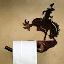 Bronco Rider Toilet Paper Holder