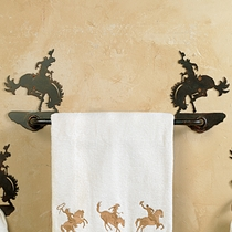 Bronco Rider Towel Bar - 35 Inch