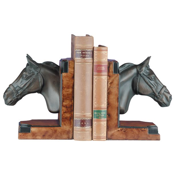 Bronze Horse Head Bookends