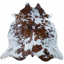 Brown and White Rare Spotty Cowhide - Extra Large