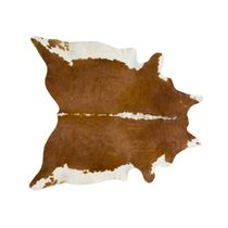 Brown and White Regular Cowhide Rug - Extra Large