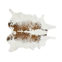 Brown and White Salt & Pepper Cowhide Rug - Large