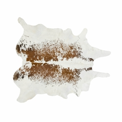 Brown and White Salt & Pepper Cowhide Rugs