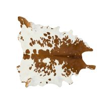 Brown and White Special Cowhide Rug - Large