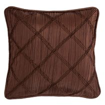 Brown Batiste Pillow with Rouching