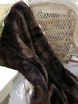 Brown Bear Microfiber Faux Fur Throw